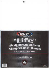 PLASTIC BAGS Large Magazine/Life (100)