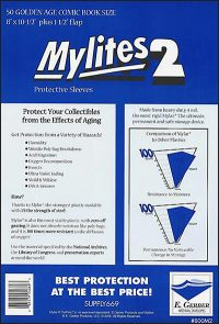 MYLITES 2 SLEEVES Silver/Gold Comic (50)