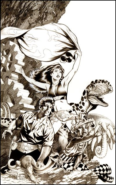 Lee/'s Comics MARK SCHULTZ fine art print Xenozoic Tales 2005 SIGNED EDITION!