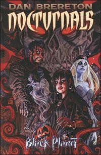 NOCTURNALS Black Planet Hardcover Signed with Drawing