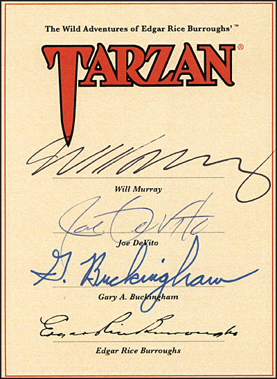 TARZAN RETURN TO PAL-UL-DON Deluxe Hardcover Signed-14096
