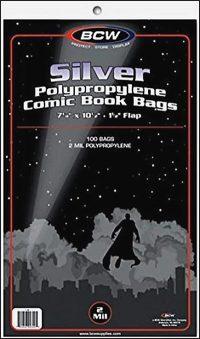 PLASTIC BAGS Silver Age/Regular (100)