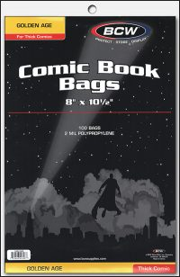 PLASTIC BAGS Golden Age Thick (100)