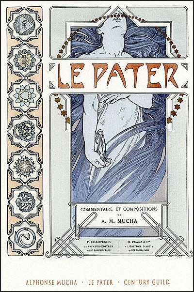 LE PATER ALPHONSE MUCHA'S SYMBOLIST MASTERPIECE Hardcover With Prints
