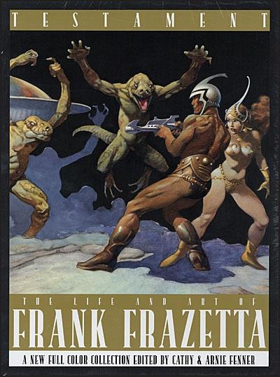 FRANK FRAZETTA TESTAMENT DLX W/ UNSIGNED BOOKPLATE