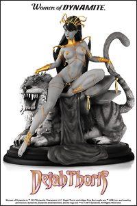 WOMEN OF DYNAMITE DEJAH THORIS B&W Diorama Statue By J Scott Campbell