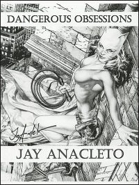 JAY ANACLETO DANGEROUS OBSESSIONS Sketchbook Signed