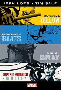 MARVEL KNIGHTS Daredevil Yellow, Spider-Man Blue, Hulk Gray, Captain America White Omnibus