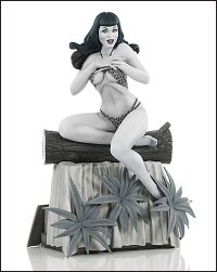 BETTIE PAGE Statue By Terry Dodson B&W