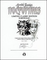 NOCTURNALS ART PORTFOLIO Signed with Drawing