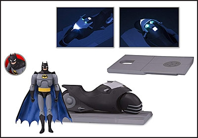 BATMAN THE ANIMATED SERIES BATCYCLE AND ACTION FIGURE