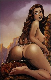 CAVEWOMAN KABBIT'S CLUB Nude Cover D