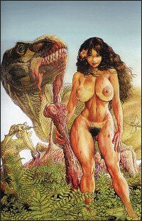 CAVEWOMAN KABBIT'S CLUB Nude Cover E