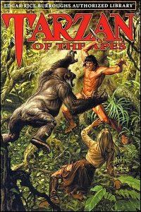 EDGAR RICE BURROUGHS AUTHORIZED LIBRARY 1-4 Book Tarzan Set