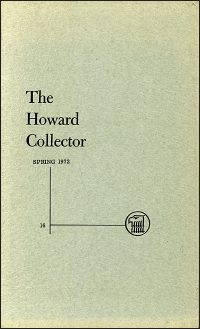 THE HOWARD COLLECTOR SPRING 1972