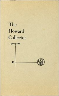 THE HOWARD COLLECTOR SPRING 1968