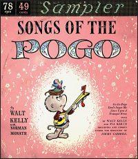 SONGS OF THE POGO Sampler Vinyl 78rpm Record
