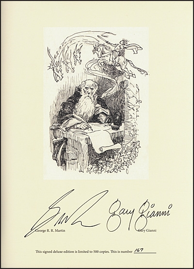 ART OF GARY GIANNI George R. R. Martin's Seven Kingdoms Deluxe Signed