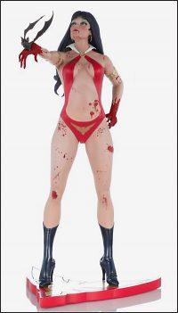 WOMEN OF DYNAMITE VAMPIRELLA Statue Crimson Blood