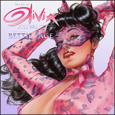 THE ART OF OLIVIA Featuring Bettie Page 2022 Calendar