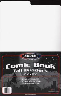 COMIC BOOK TALL DIVIDERS 7 1/4 x 11 1/4 (25)