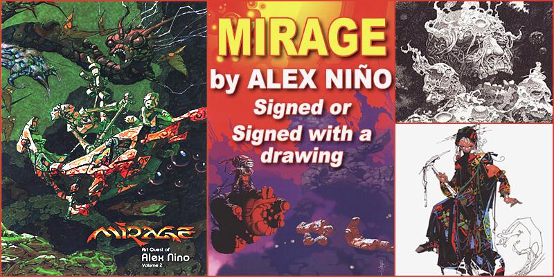 Alex Niño's new book Mirage