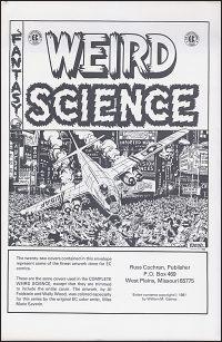 EC WEIRD SCIENCE Cover Portfolio