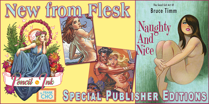 New from Flesk--Bruce Timm and Frank Cho
