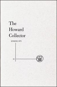 THE HOWARD COLLECTOR SPRING 1971